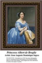 Princesse Albert de Broglie, Fine Art Counted Cross Stitch Pattern (Pattern Only, You Provide the Floss and Fabric)