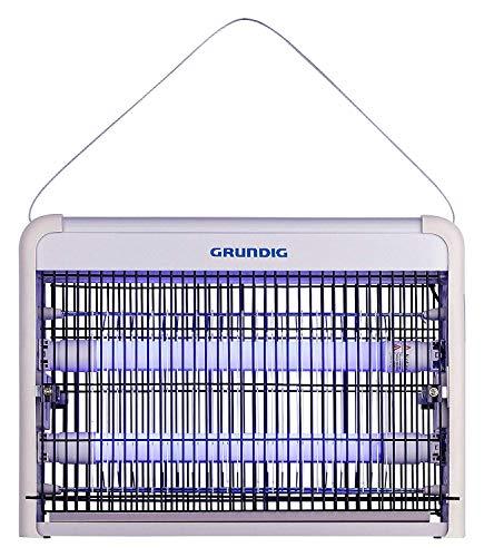 GRUNDIG ZD30W UV-Licht LED elektrisch, 8W, Moskito Biene für Räume bis 25 m², Mückenfalle für Wandmontage, Hängend-gegen Fliegen, Weiss