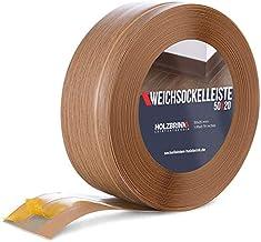 HOLZBRINK zelfklevende zachte plint, donker eiken PVC lamel, 50x20mm, 15 m