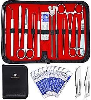 20 Pcs Advanced Dissection Kit. Biology Lab Anatomy Dissecting Set for Medical Students and Veterinary with Stainless Steel Scalpel Knife Handle Blades