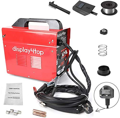 Display4top Professional Mig 130 Welder Gasless 230V No Gas with Mask &...