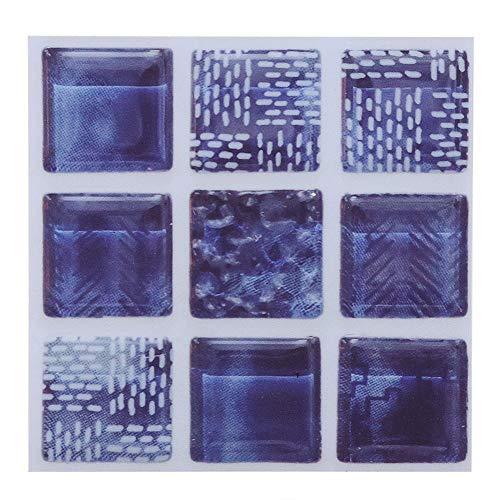 18 stks mozaïek tegel transfer stickers badkamer keuken diy thuis waterdicht, herbruikbare en duurzame sticker (10 cm * 10 cm)(01)