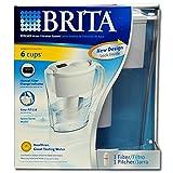 Brita 35566ahorro de espacio jarra de filtrado de agua
