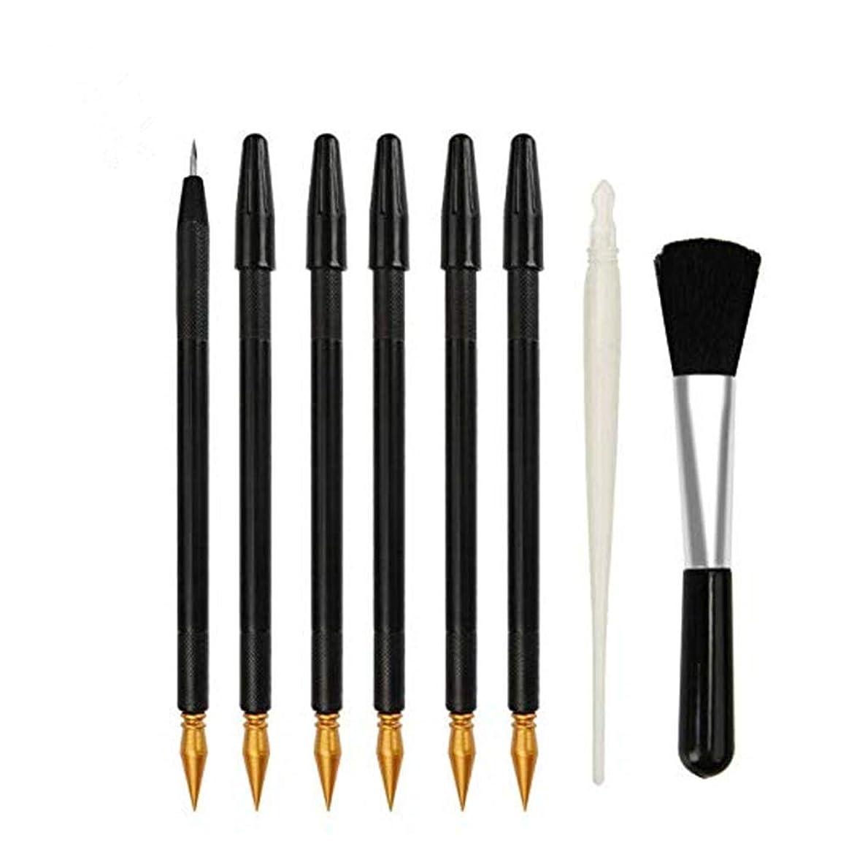 煩わしいしてはいけませんメイエラSUPVOX 8本のスクラッチアートツールスクラッチペーパーカラーペンとブラシ