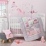 Bedtime Originals Rainbow Unicorn 3Piece Crib Bedding Set,...