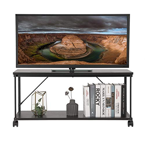 SONGMICS TV Stand Metal TV Cabinet, Storage Cabinet Console, Sturdy Stable and Easy Assembly, for Home and Office, Black ULTV10BR