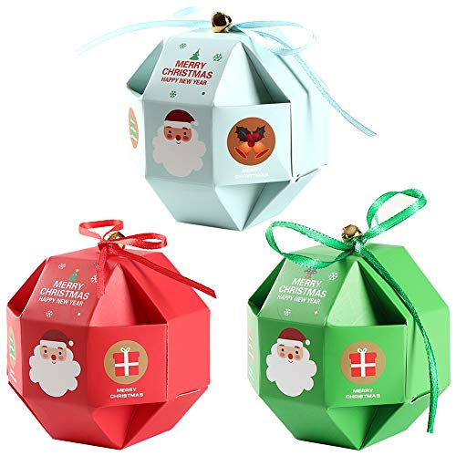 Cajas de Dulces Navideños 12 Piezas Cajas de Dulces Navideñas Cajas Presentes Cajas de Regalo de Favor de Fiesta...