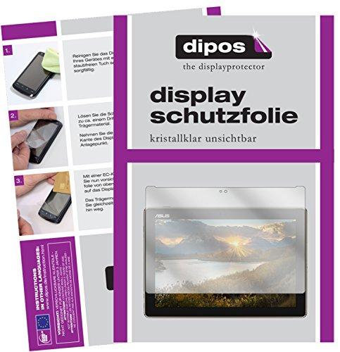dipos I 2X Schutzfolie klar kompatibel mit Asus ZenPad 10 (Z301 ML/MFL) Folie Bildschirmschutzfolie
