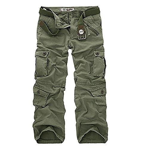 AYG Pantalon Militar Cargo Trousers para Hombre Verde Verde(army Green) 34W / 33L