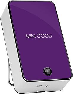 OVINEE Mini Fan de enfriamiento sin Hojas LED Lámpara de Mesa Plegable Creativa,Mini Ventilador portátil de Aire Acondicionado,Air Cooling(11.3 * 6.5 CM) (Púrpura)