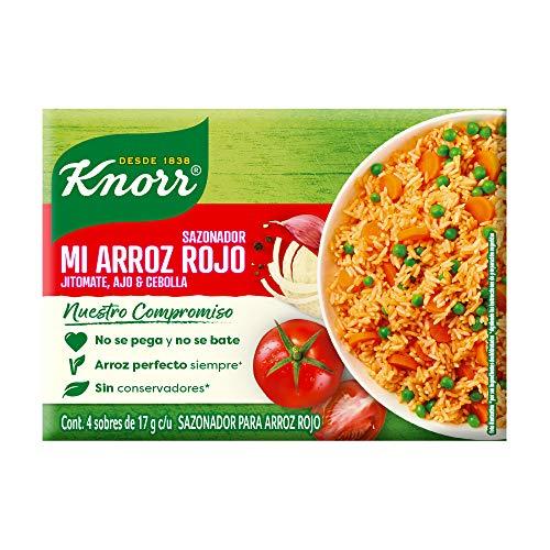 Knorr Sazonador Mi Arroz Rojo de 68 gr. Ideal para un arroz perfecto, no se pega ni se bate. Sin conservadores** por sus ingredientes...