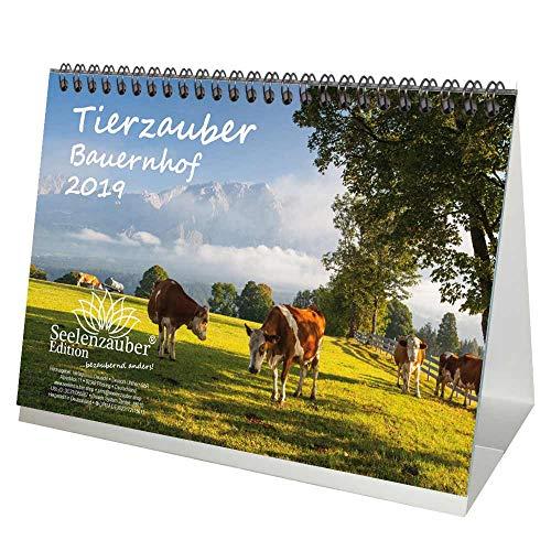 Animal Magic – DIN A5 – Premium Kalender/Kalender 2019 – Landelijke Levensloop Boerderij; Schapen; Hond; Kat, Koe; – Kip – Paard – Geit – Boerderij – Paard – Natuurlijke – Dieren – 1 en 1 Kerstmis wenskaart – Editie Soul Magic Gift Set