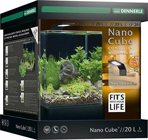 Dennerle Nano Cube Complete+ 20 Liter – Mini Aquarium mit Abgerundeter Frontscheibe – Komplett-Set - 4