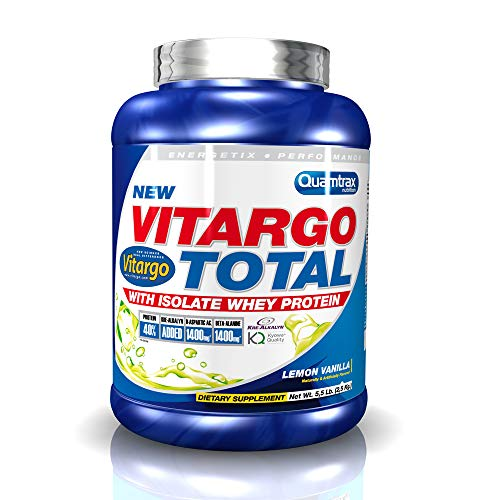 Quamtrax Vitargo Total Sabor Limón y Vainilla - 2,5 Kg, 25 dosis.