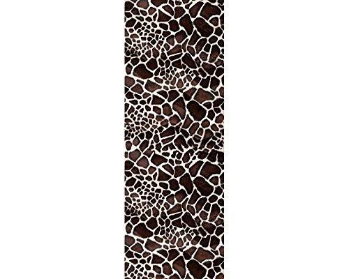 awallo Dekopanel Motiv Giraffenmuster in den Farben Braun, Weiss Fototapete in 100x280cm auf Vliestapete Made in Germany einfache und schnelle Verarbeitung