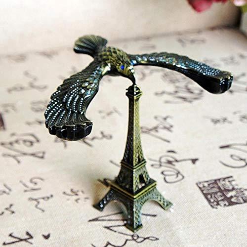 EMOHKCAB Retro legering Eiffeltoren modellering met balans vogel voor Office Desktop decoratie fotografie Prop, zoals show, 12,5 x 9,5 x 11