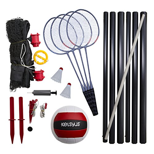 Kelsyus Premium Badminton and Volleyball Combo