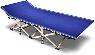 Portable Foldable Folding Guest Be'ds for Adults, Rollaway Camping Cot Single Be'd with Metal Frame, Support 150kg, 190x67...
