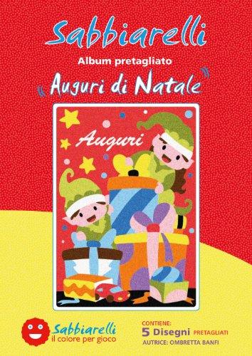 Sabbiarelli Sand-it for Fun - Album Vœux de Noël : 5 Dessins préencollés à colorier avec Le Sable (Sable Non Inclus), Convient pour Les Enfants Ans 5+