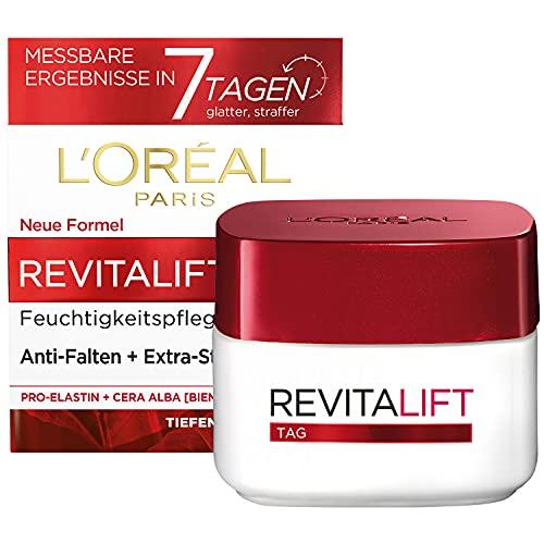 L'Oréal Paris Tagespflege, Revitalift, Anti-Aging Gesichtspflege, Anti-Falten und Extra-Straffheit,...