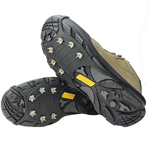 LYLbz LYLbz Ice Klampen Traktion Rutschfeste über Schuhe/Stiefel 6 Stollen Schnee Ice Grips Steigeisen Stollen Spikes