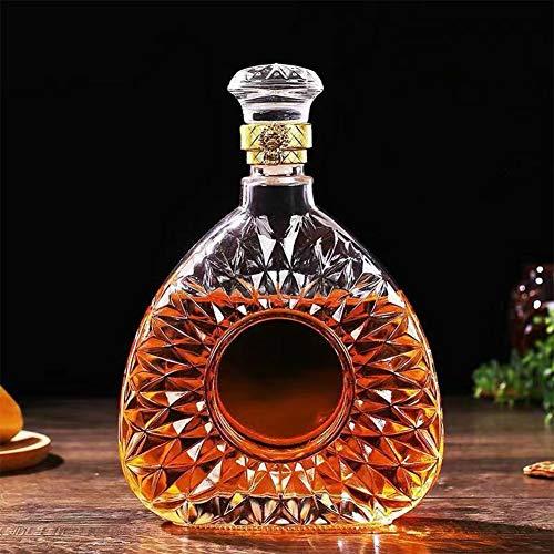 Decantador de vino de cristal con tapón, soporte hecho a mano, dispensador de vino, whisky, decantador de alcohol para 5