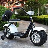 FEE-ZC Enfants en sécurité avec Enfants, Moto, Moto pour Enfants de 3 à 7 Ans, Batterie de Moteur électrique pour vélo 6V, 3 km/h