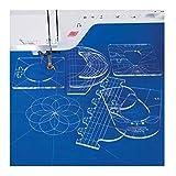 YICBOR New Ruler Template Sampler Set for Domestic Sewing Machine 1 Set = 6pcs #RL-06 (2.9mm)