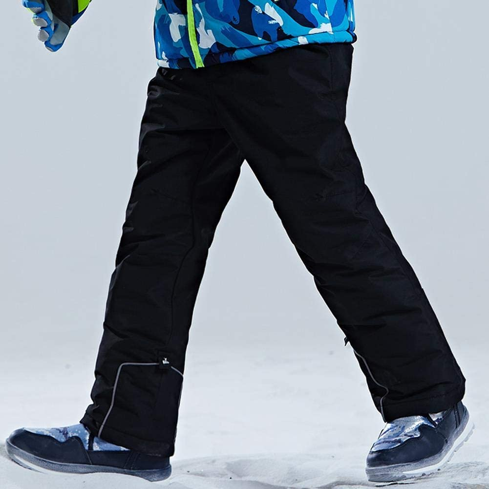 Wowu Boys Girls Waterproof Breathable Polyester Snowboard Ski Pants Youth Snow Pants Thick