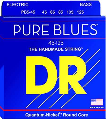 DR Strings PURE BLUES Bass Guitar Strings (PB5-45)