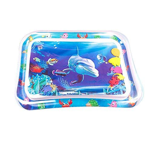 Tapis de Jeu Aquatique Jouer Kid Gonflable Tummy Water Time Mat Jouets for Les Nourrissons en Bas âge Enfants Activité Bébé Jouets sensoriels (Color : Blue, Size : 66X50CM)