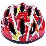 RIHE 自転車 ヘルメット こども用 軽量 スポーツ ヘルメット サイクリング 子供用 キッズ スケート ジュニア 男の子 女の子 通学 アジャスター付き(レッド)