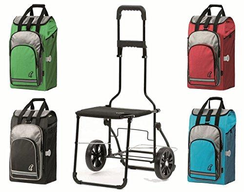 Andersen Komfort Shopper Hydro Thermofach ausklappbarer Stuhl Einkaufstrolley (Schwarz)