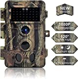 Caméra de Chasse 16MP 1080P IP66 Étanche, Caméra Surveillance avec 40Pcs LED Vision Nocturne Infrarouge Jusqu'à 65FT et Grand Angle 120°