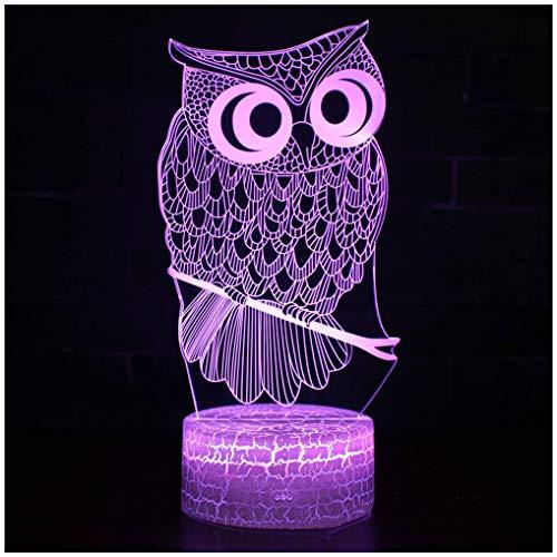 Ti-Fa Led-nachtlampje, 3D-lampje, nachtkastje met draadloze afstandsbediening, 7 kleuren, voor kinderen, familie, vakantiehuis, decoratie, verjaardagscadeau