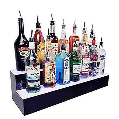 HEN\'GMF Beleuchtetes Weinregal Acryl- 2 Tier LED Leuchtet Schnapsflasche WeinRegal Dekorationen für Hochzeit Club Bars Nachtclub Party BBQ,
