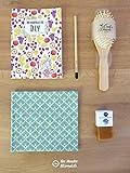 Kit cadeau DIY'Je découvre' - 20 à 40 ans - Les aventures de Prune et ses cadeaux écologiques et zéro déchet : shampoing solide, crayon à planter.