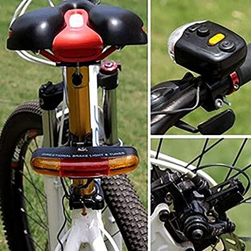 junmo shop 7 LED bicicleta señal de giro direccional luz de freno lámpara 8 sonido cuerno bajo consumo de energía bicicleta bicicleta bicicleta Accesorios