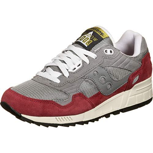 Saucony Shadow 5000 Grey/Red, Scarpe da Campo e da Pista Unisex-Adulto, Gris Rouge, 41 EU