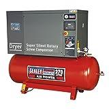 Sealey SSC12710D tornillo compresor con bajo nivel de ruido secador, 10hp, 3ph, 270litros