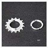 YDL Engranaje Fijo One Speed Bicycle Wheel Cogs Plocket Amp Lockring para la Rueda Libre (Color : 15T)
