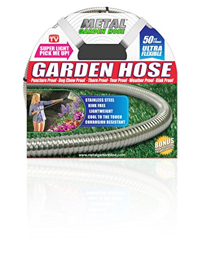 Metal Garden Hose (50'), The Original 304 Stainless Steel Hose