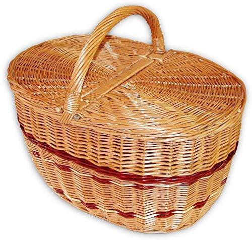 Wilpo Panier de picnic Panier d'achats Saule 48x33x45 Panier à champignons Paniers pour automobile Panier de transport Panier en saule