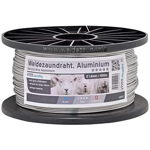 VOSS.farming 1x Fil Aluminium 400 m, 1,8 mm