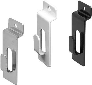 Slatwall Utility Notch Hook, Picture Hanger for Slatwall & Slat Grid, Black, 10 Pack