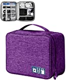 Elektronische Tasche - Elektronik zubehör organisator - universal travel Kabel Organizer Tasche (lila)