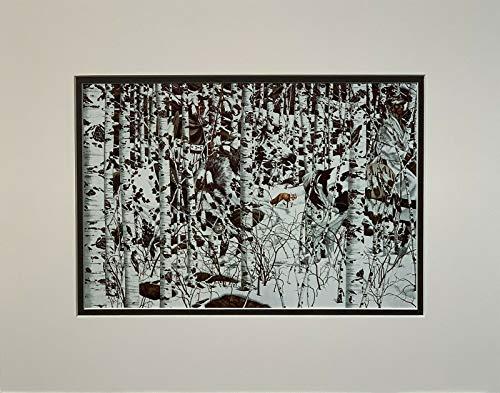 """Bev Doolittle - WOODLAND ENCOUNTER - 11 x 14 Matted Art Print Fits a standard 11"""" x 14"""" Frame"""