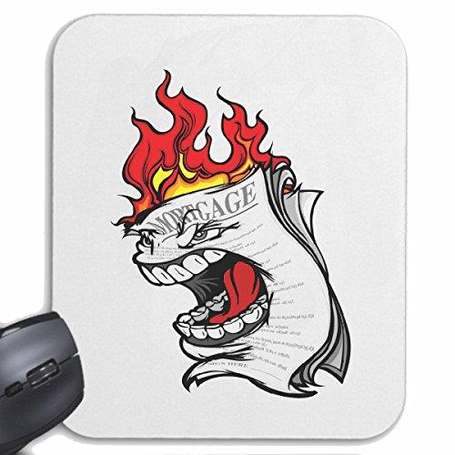 Mousepad (Mauspad) BRENNENDE ZEITUNG MORGENZEITUNG TAGESZEITUNG NACHRICHTEN PRESSEMITTEILUNG LIFESTYLE FASHION STREET WEAR HIPHOP LEGENDARY SALSA für ihren Laptop, Notebook oder Internet PC