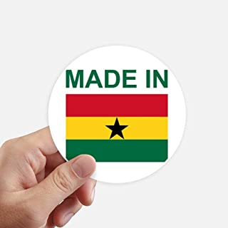 DIYthinker Made in Ghana Country Love Round Stickers 10cm Wall Suitcase Laptop Motobike Decal 8pcs