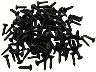 Musiclily 3mm Electric Guitar Bass Pickguard Screws Pick Guards Scratch Plate Mounting Screws for Fender Strat ST Tele TL Stratocaster Telecaster Gibson LP Les Paul SG Guitar, Black (Pack of 50)